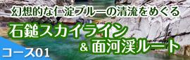 コース01 石鎚スカイライン&面河渓ルート